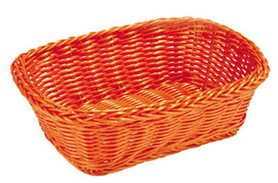 Tablecraft HM1185GN Rectangular Basket, 11.5 x 8.5 x 3.5-in, Green Polypropylene Cord