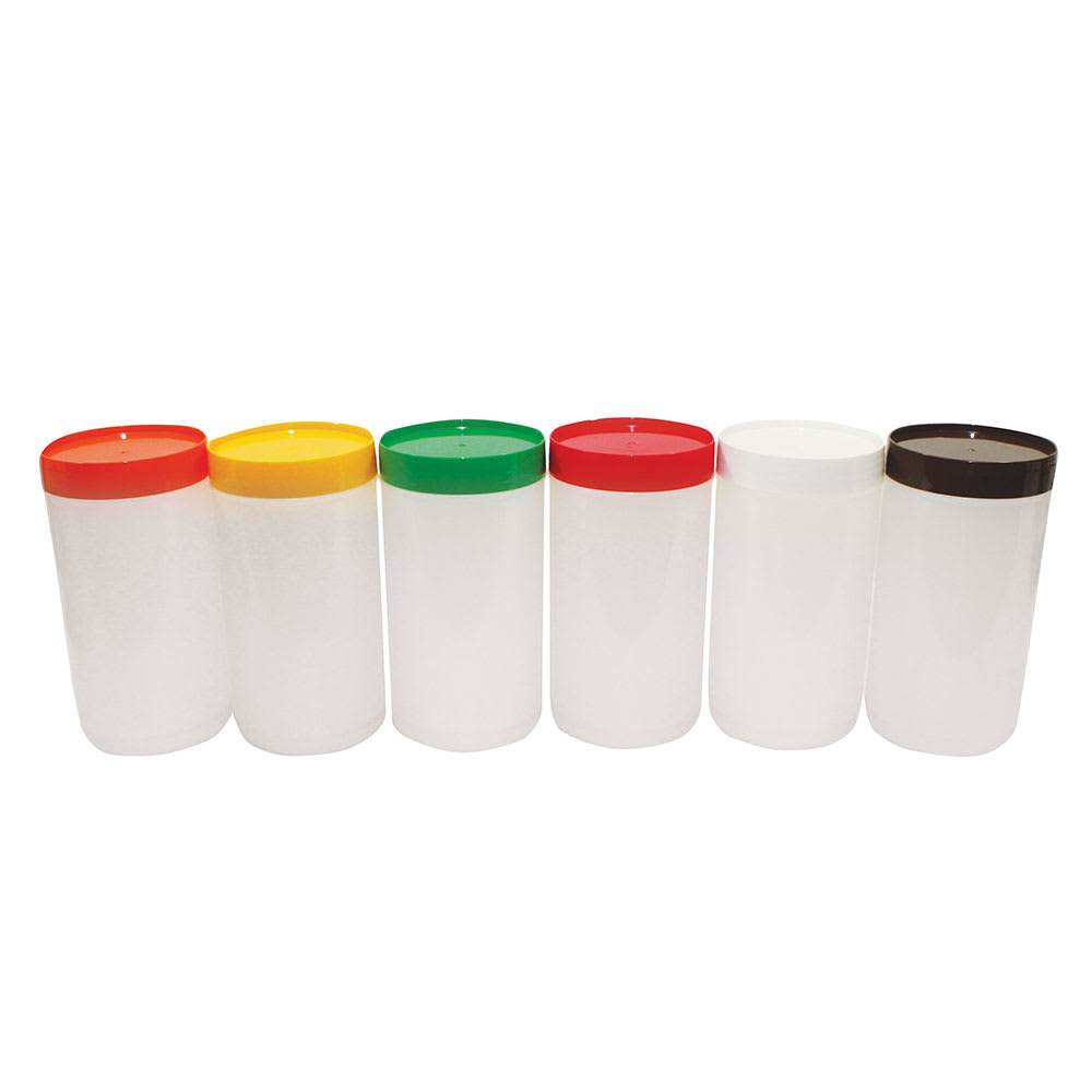 Tablecraft JC1032A Polyethylene Backup Unit w/ Assorted Color-Coded Cap, Quart Size