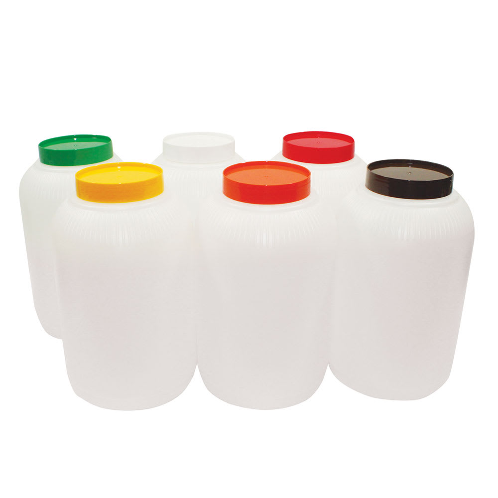 Tablecraft JC1128A Polyethylene Backup Unit w/ Assorted Color-Coded Cap, Gallon Size