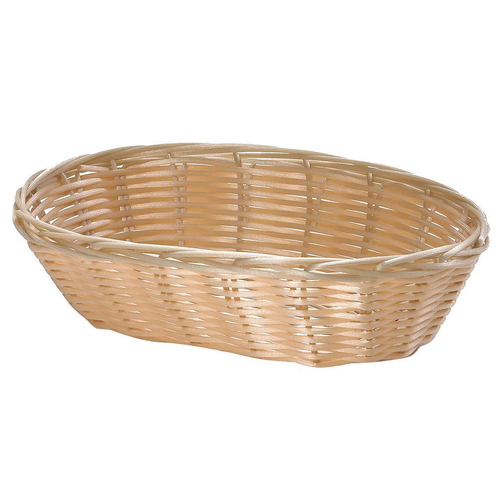 "Tablecraft M1174W Natural Oval Basket, 9 1/4 x 6 1/4 x 3 1/4"", Polypropylene"