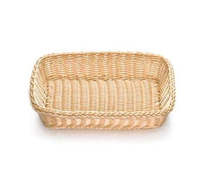 "Tablecraft M1189W Natural Rectangular Basket, 16 x 11-3/4 x 3-1/2"", Polypropylene"