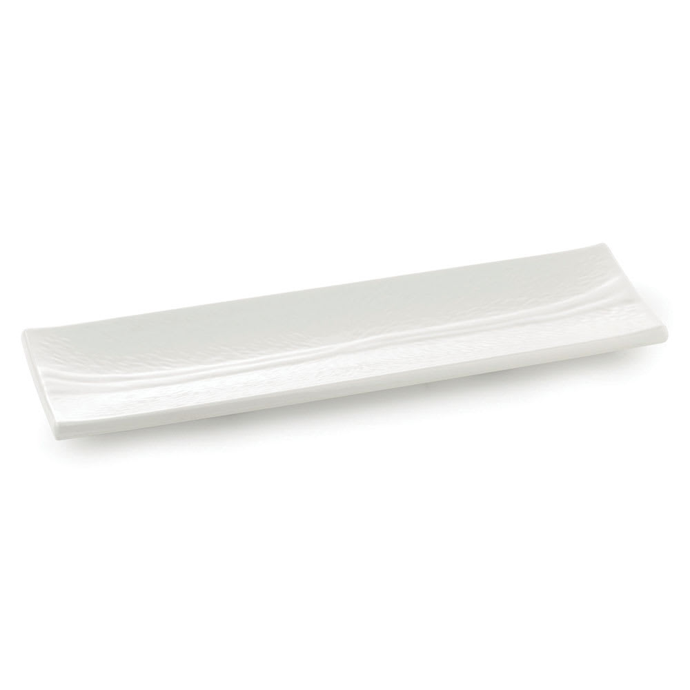 Tablecraft M186 Frostone Collection Dish, Rectangular, 17.75 x 5.5 in, Melamine, White