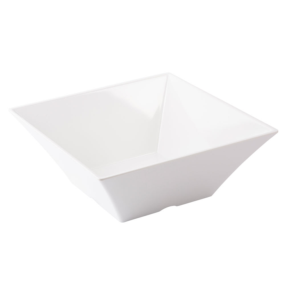 Tablecraft MB125 Frostone Collection Bowl, Square, 12.25 x 5 in, Melamine, White