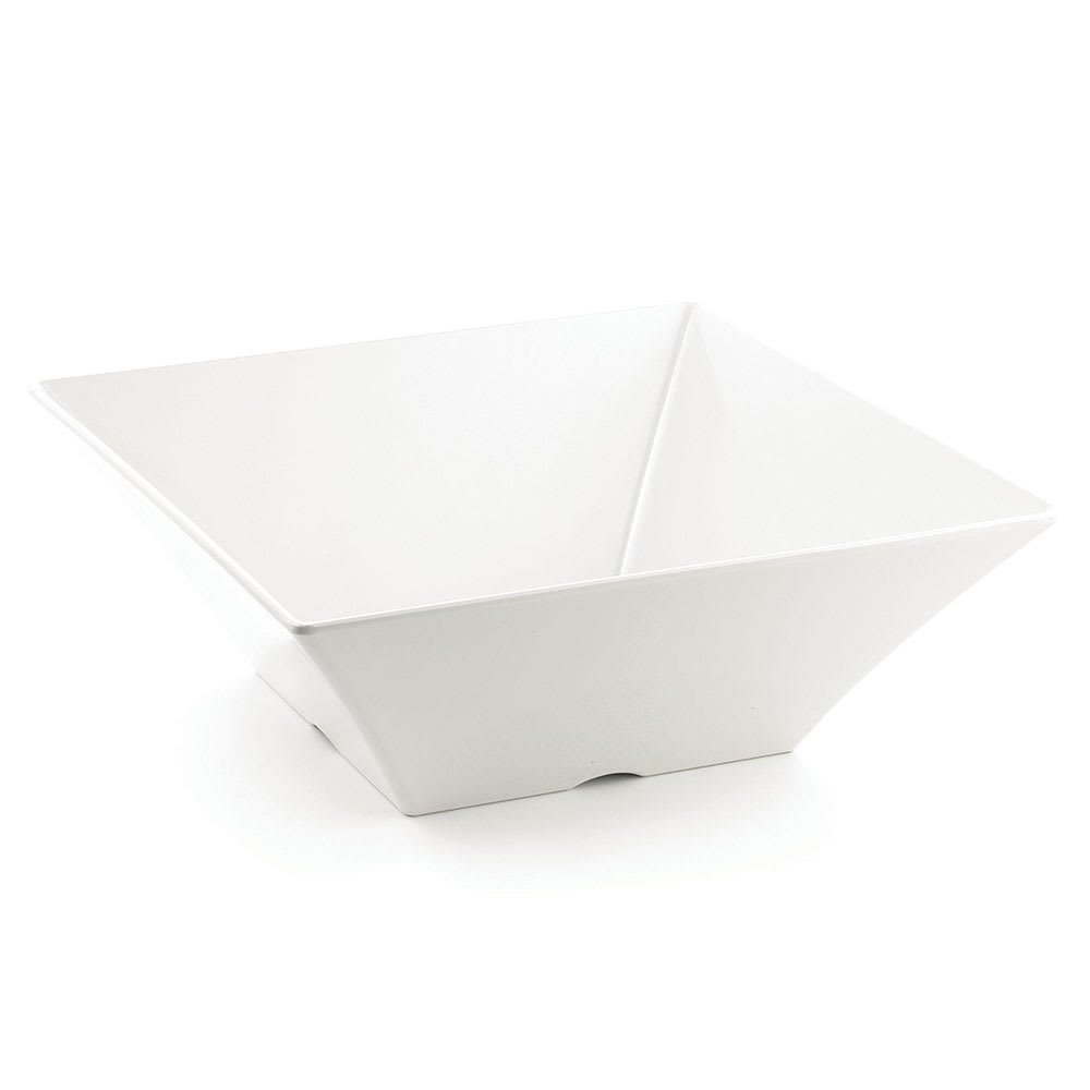Tablecraft MB166 13.3 qt Square Serving Bowl - Melamine, White