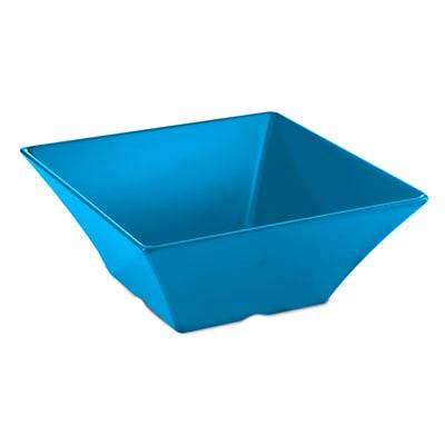 "Tablecraft MB166BL 15-3/4"" Square Frostone Bowl - Melamine, Blue"