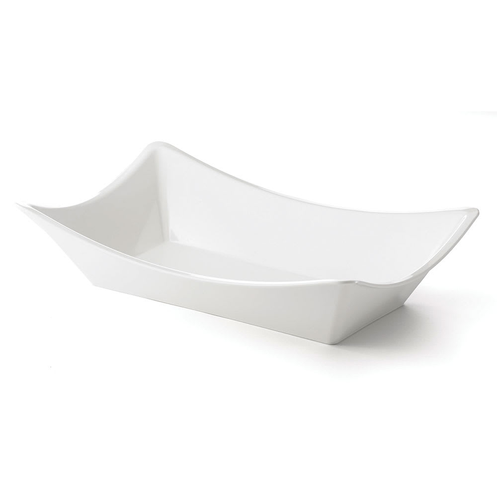 "Tablecraft MGMT2113 Rectangle Serving Bowl - 21"" x 13"", Melamine, White"