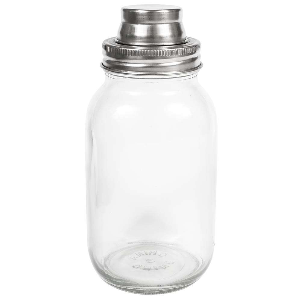 Tablecraft MJS30 30 oz Mason Jar Cocktail Shaker - Glass