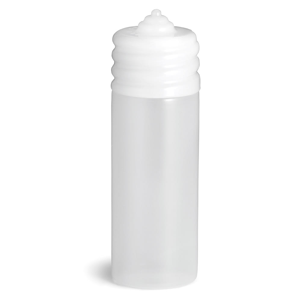 Tablecraft N20C 20 oz Wide Mouth Squeeze Dispenser, One Tip Top, Natural