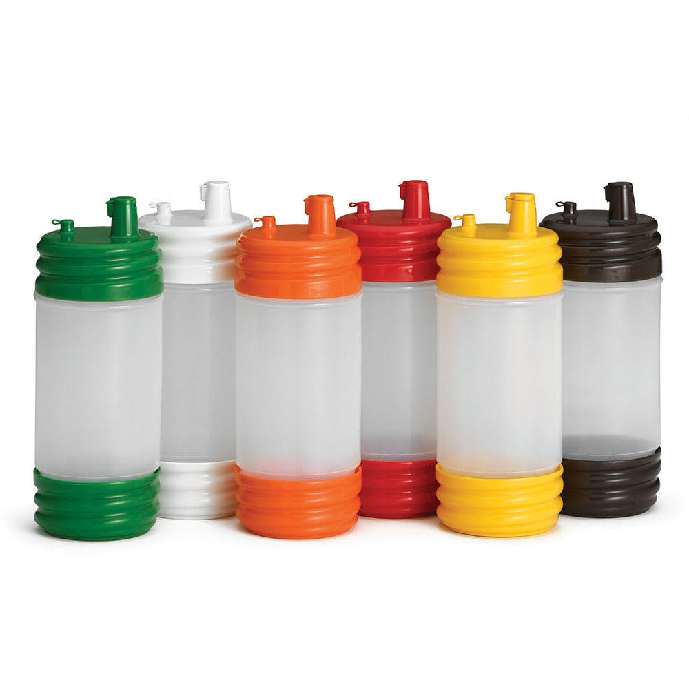 Tablecraft N32LPA PourMaster 1 qt Bottle w/ Low Profile Top & Cap, Assorted