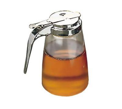 Tablecraft P10 10-oz Syrup Dispenser, Lexan w/ Chrome Plated Top
