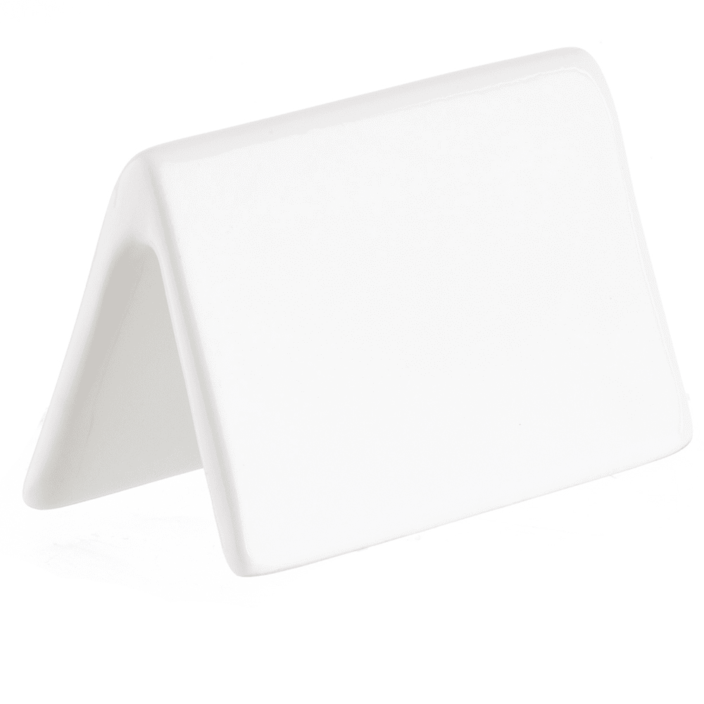 "Tablecraft P16 Write-On Tabletop Tent - 2"" x 3.5"", Porcelain, White"