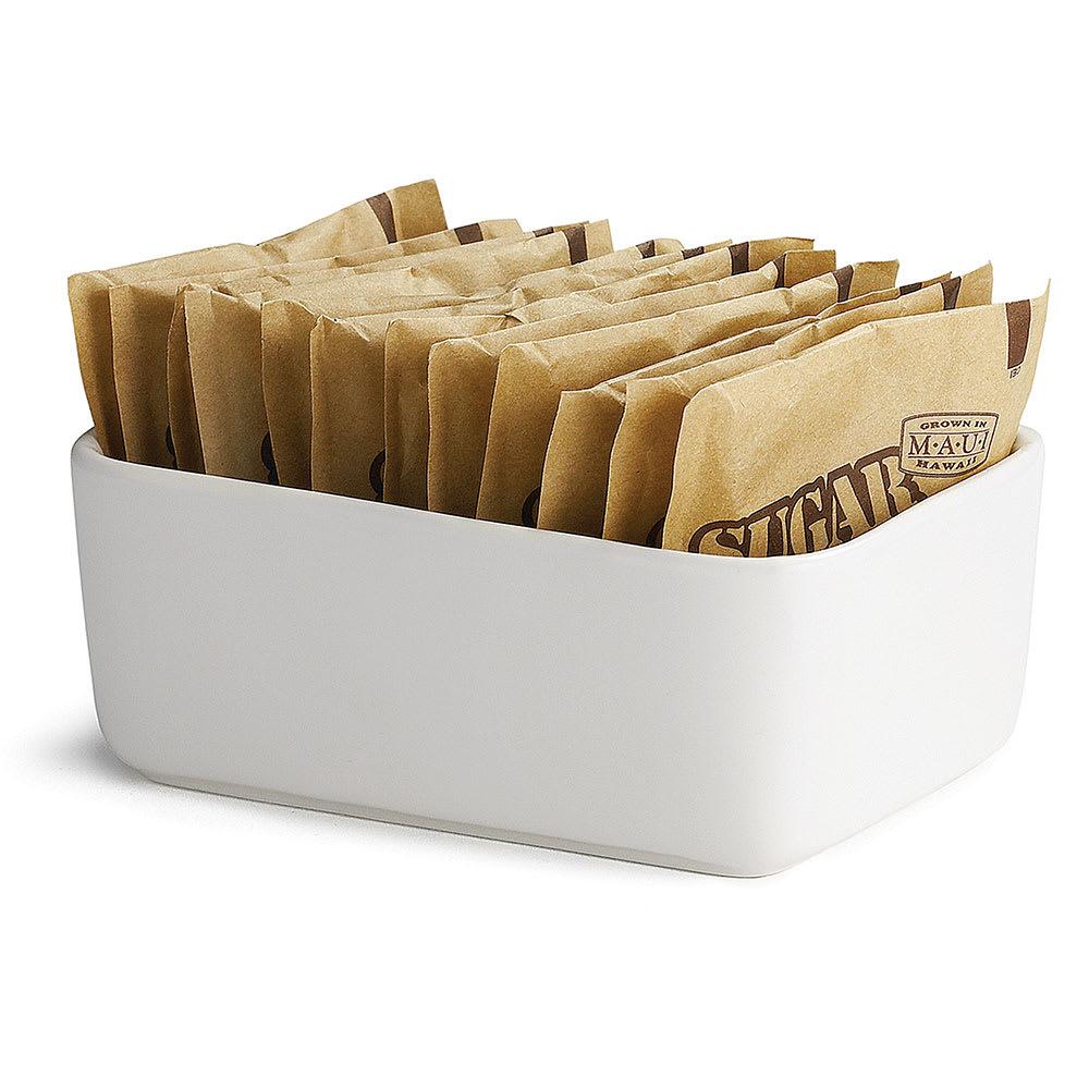 """Tablecraft P56 White Porcelain Sugar Packet Holder, 4 x 2 1/4 x 1 1/2"""""""