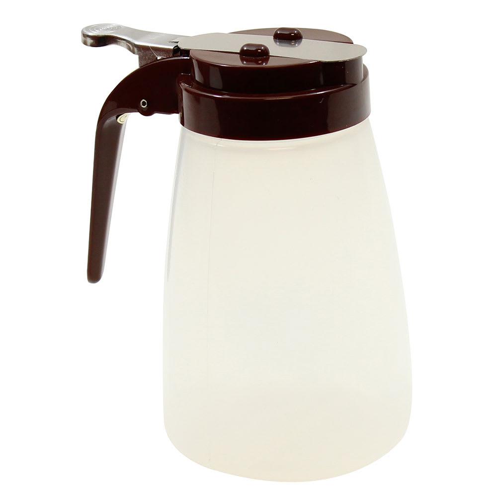 Tablecraft PP10B 10 oz Syrup Dispenser - Polypropylene, Brown