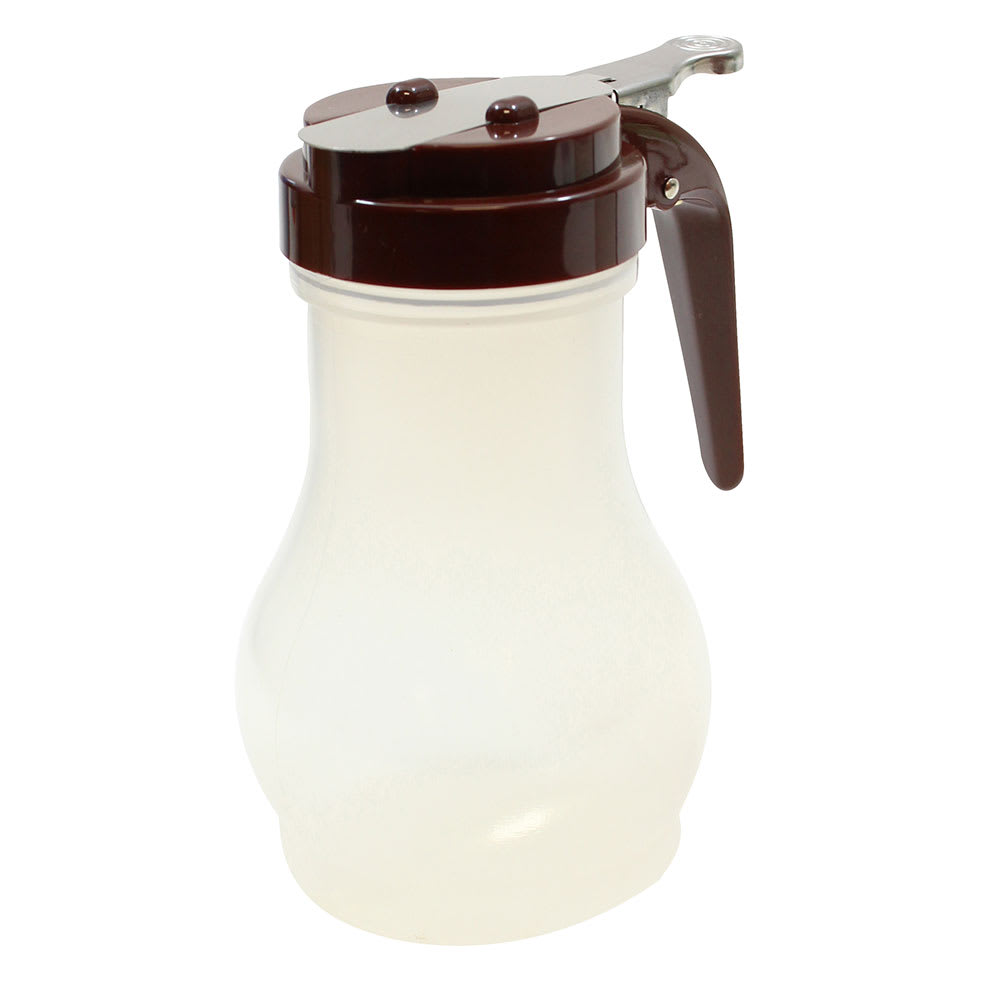 Tablecraft PP410B 10-oz Syrup Dispenser - Polypropylene, Brown