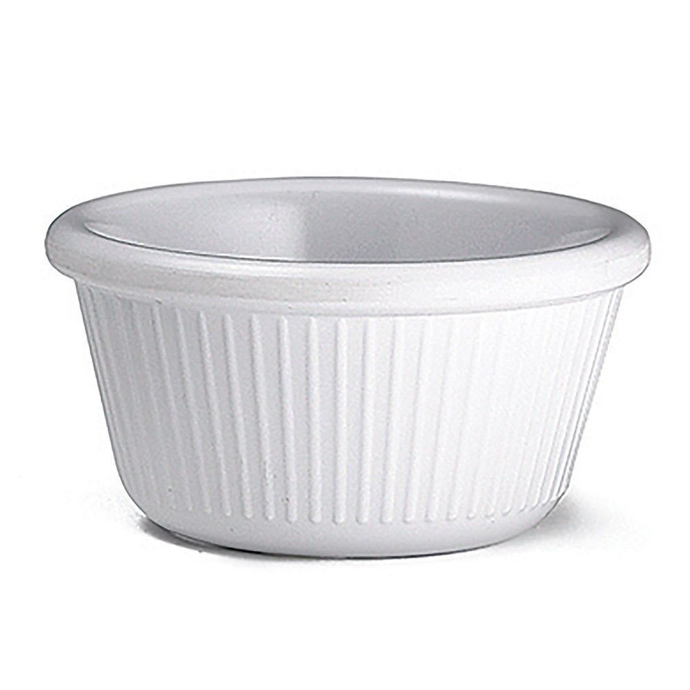 Tablecraft RAM3FW 3 oz Fluted White Melamine Ramekin