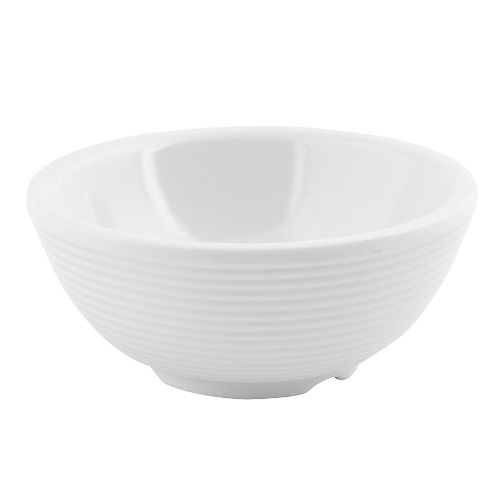 Tablecraft RAM3RB 3 oz Ribbed Ramekin - Melamine, Bone
