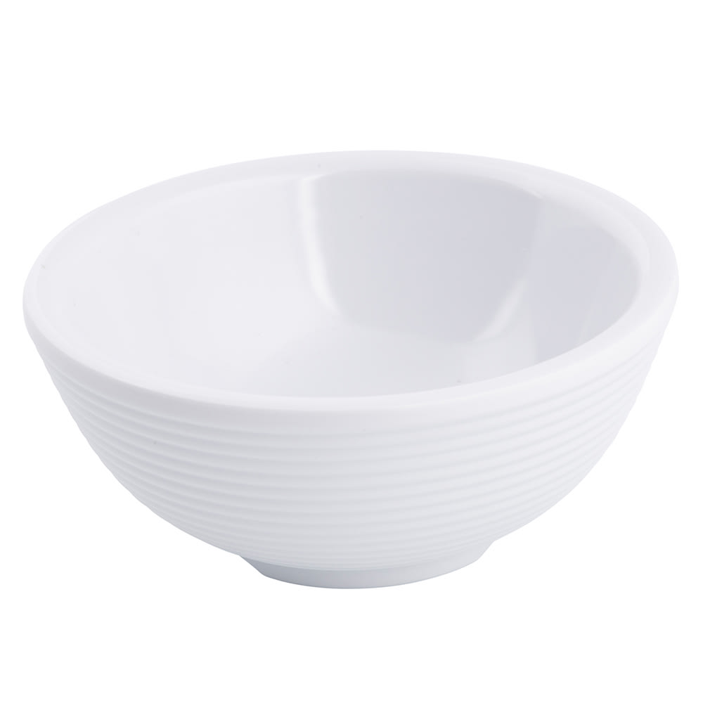 Tablecraft RAM3RW 3-oz Round Ramekin - Fluted, Melamine, White
