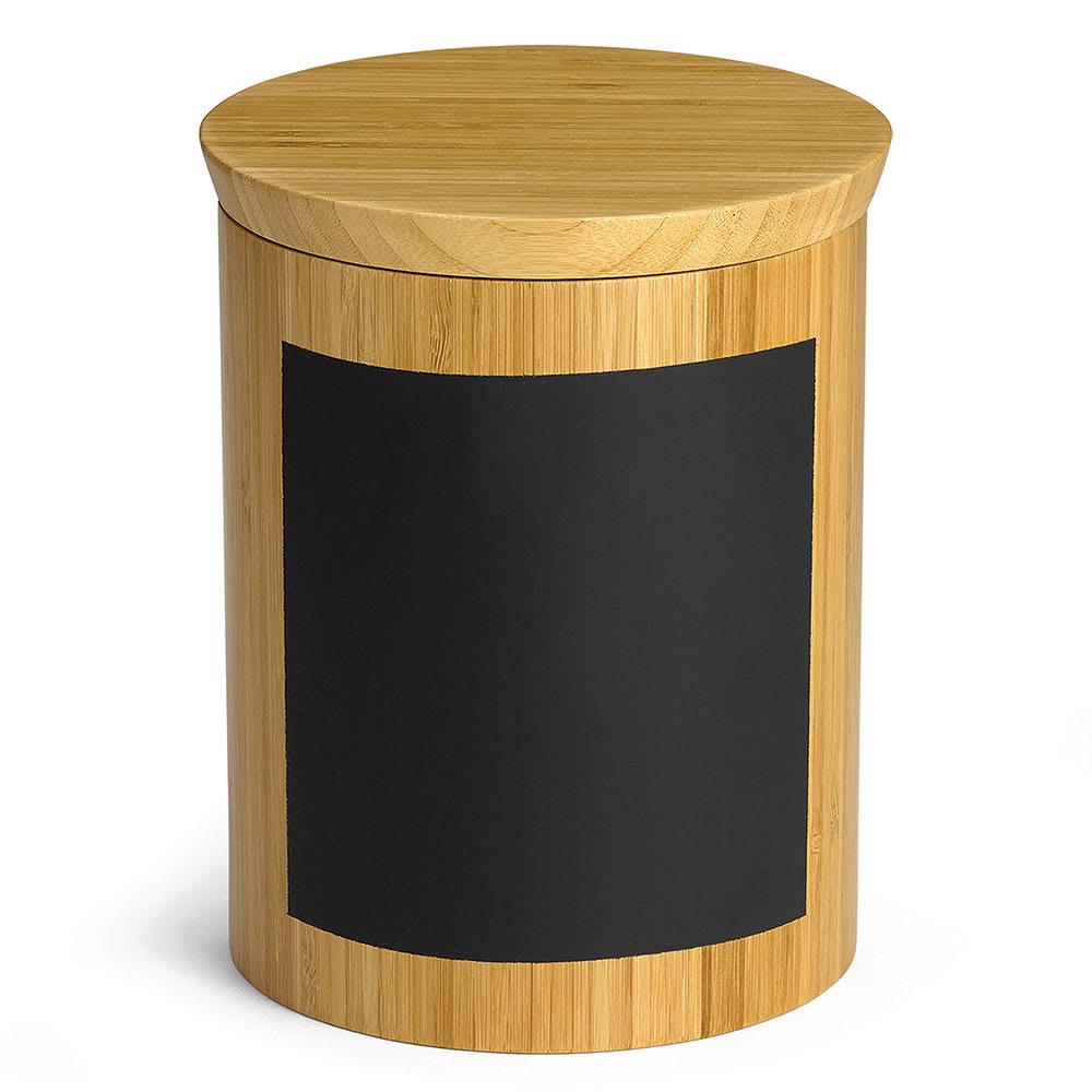"Tablecraft RCBR668 Display Riser w/ Chalkboard, 6"" x 6"" x 8"", Bamboo"