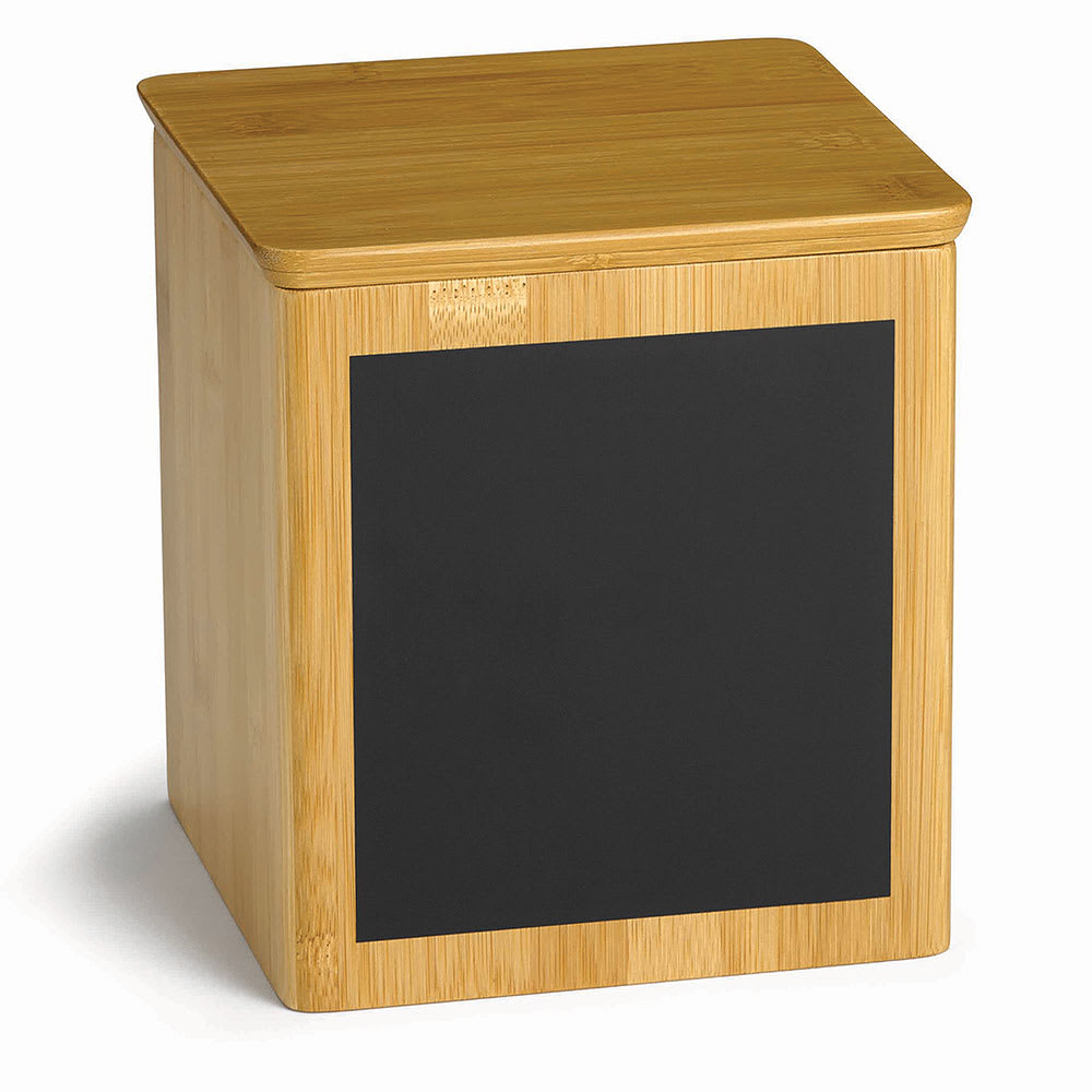 "Tablecraft RCBS667 Display Riser w/ Chalkboard, 6"" x 6"" x 7"", Bamboo"