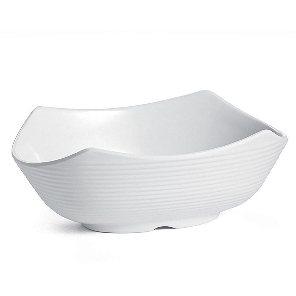 Tablecraft RIBW3W 3 oz Oval Sauce Bowl - Melamine, White