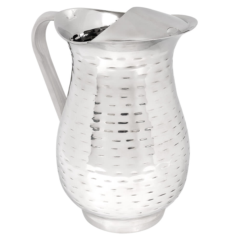 Tablecraft RP68 Remington Collection Beverage Pitcher, 2 qt, Ice Guard, Stainless
