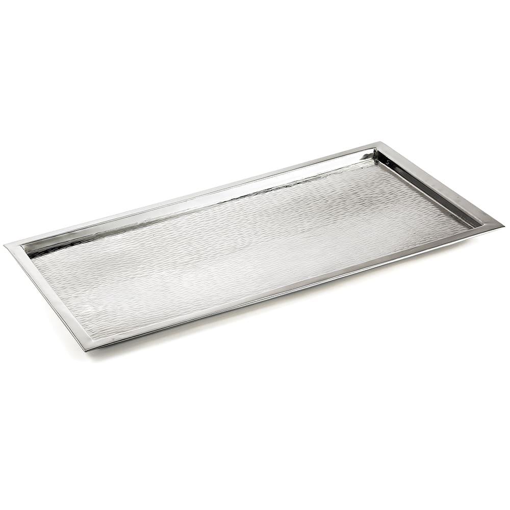 "Tablecraft RPD2415 Rectangular 18 8 Stainless Steel Tray, 23.25 L x 15 W x 1""H"