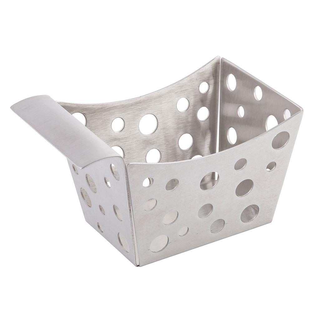 "Tablecraft SCB Rectangular Serving Basket w/ Stamped Circles, 5.5"" x 3.25"" x 3"", Stainless"