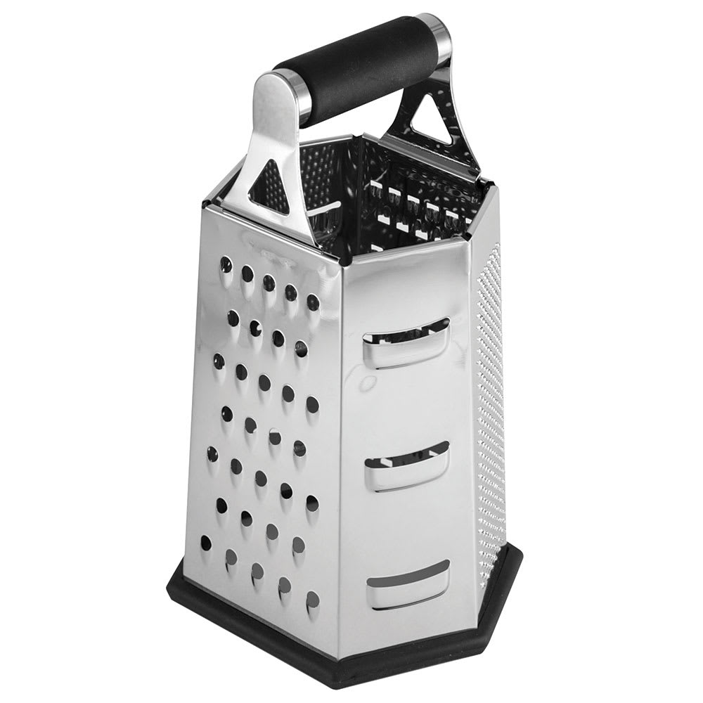 "Tablecraft SG204BH 6 Sided Box Grater - 5.5"" x 4.5"" x 9.25"", Stainless"