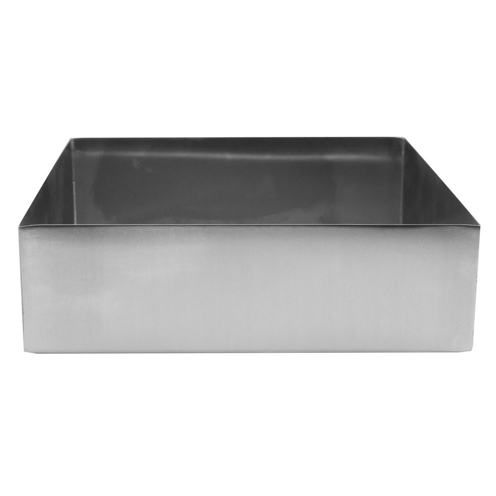 "Tablecraft SS4005 6 qt Rectangular Contemporary Bowl - 12"" x 10"", Stainless"