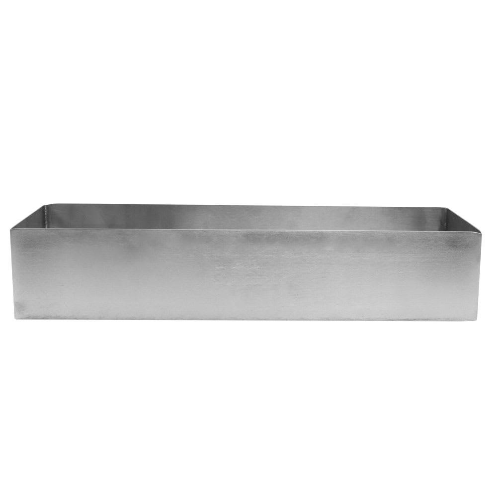 """Tablecraft SS4008 3.75-qt Rectangular Contemporary Bowl - 15"""" x 5"""", Stainless"""