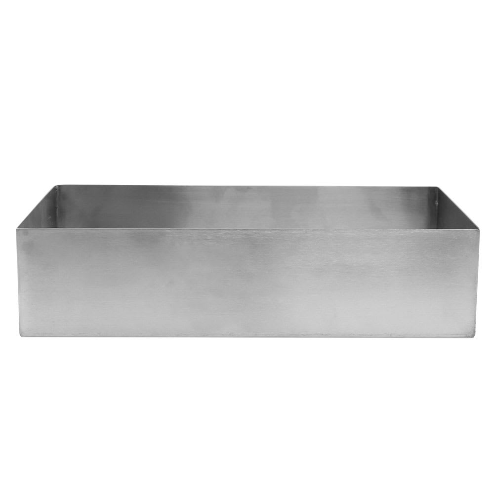 "Tablecraft SS4026 2.5-qt Rectangular Contemporary Bowl - 10"" x 5"", Stainless"