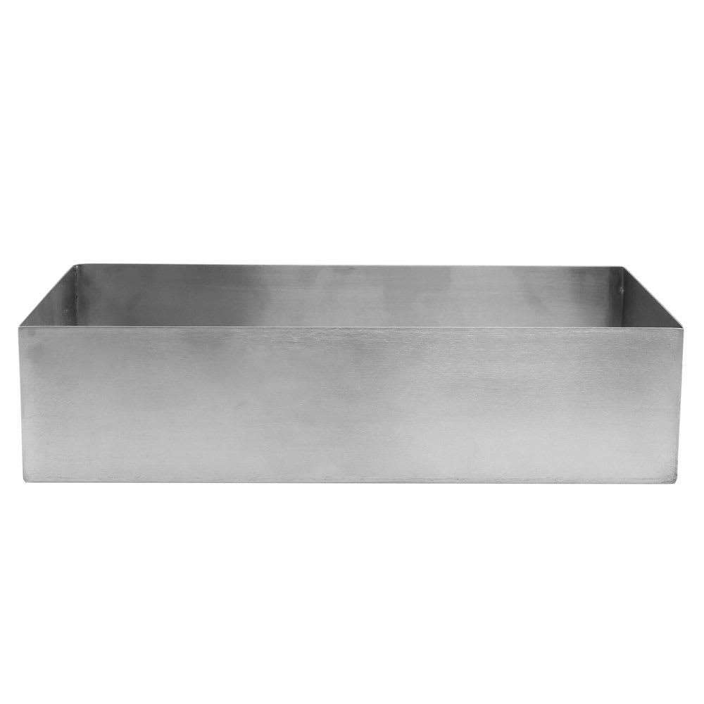"""Tablecraft SS4027 3.5 qt Rectangular Contemporary Bowl - 12"""" x 6"""", Stainless"""