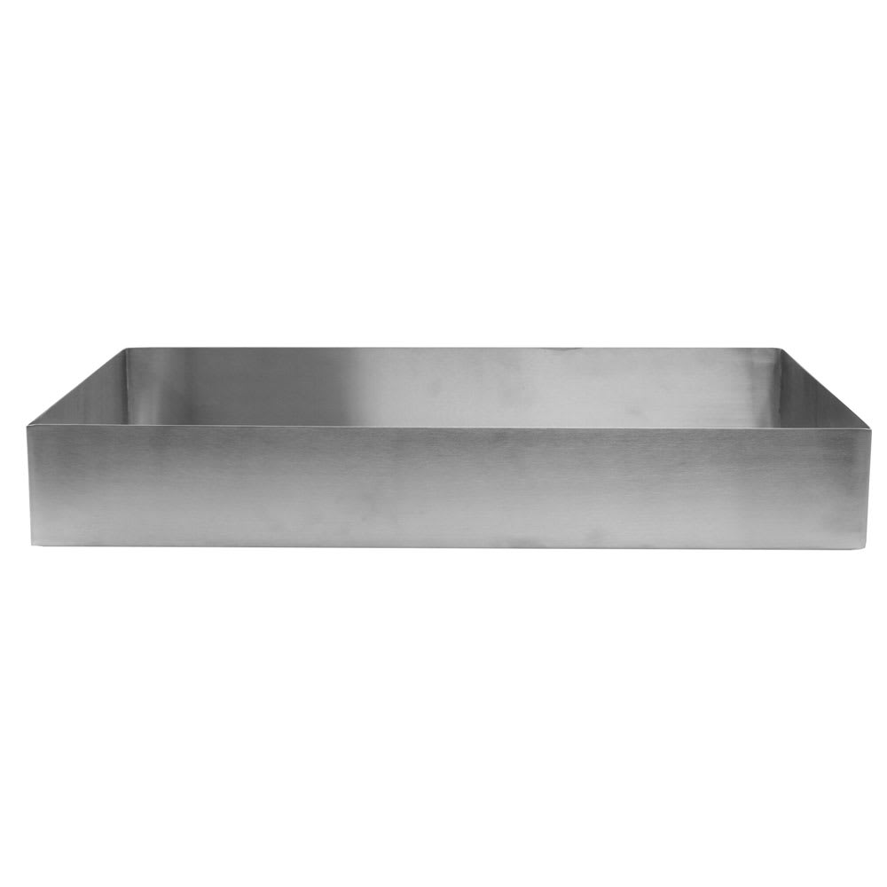 "Tablecraft SS4033 12-qt Rectangular Contemporary Bowl - 20"" x 12"", Stainless"
