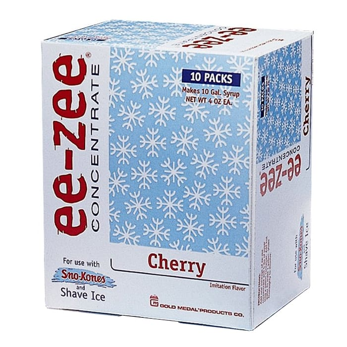 Gold Medal 1011CT Cherry Snow Cone Syrup Pre-Measured Concentrate Pouch, 10/Case