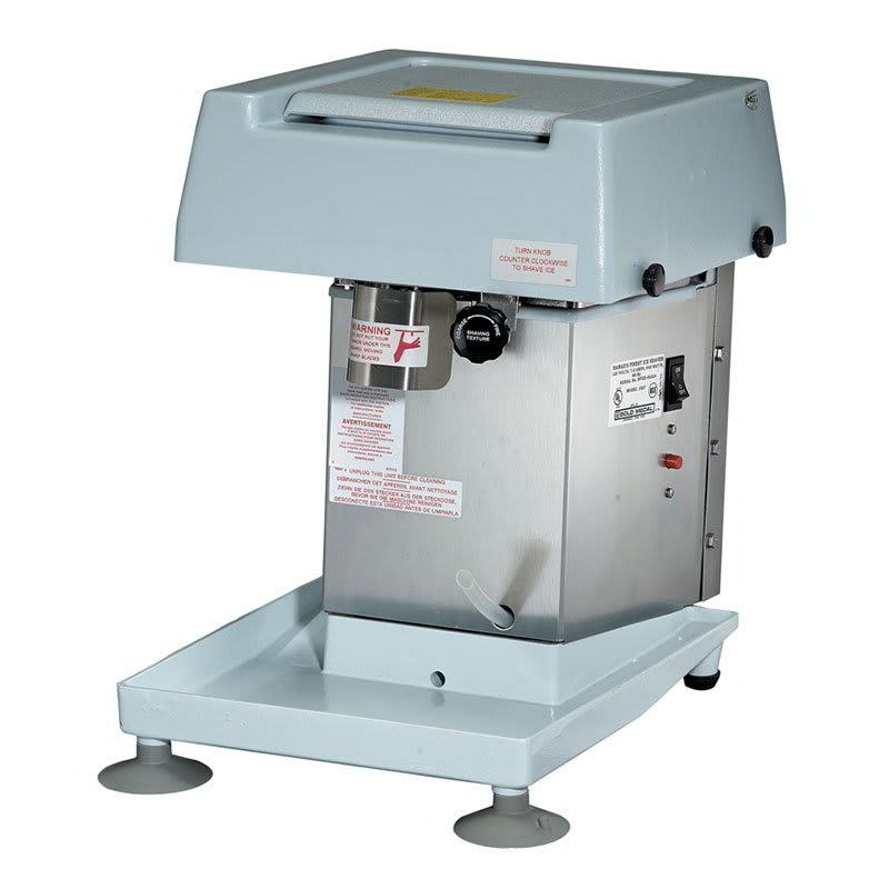 Gold Medal 1027 Hawaiis Finest Shave Ice Machine w/ 8-lb Hopper & Kill Switch, 1/3-hp