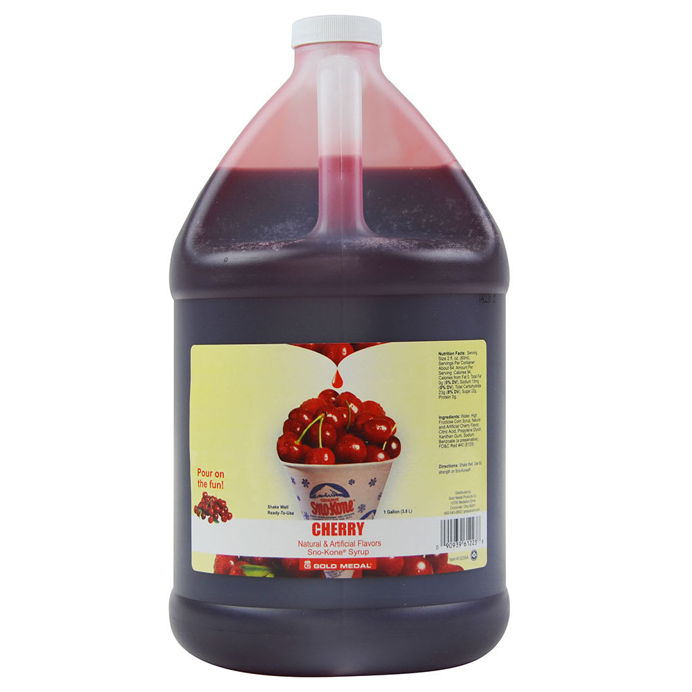 Gold Medal 1031GA 1 gal Cherry Snow Cone Syrup Concentrate