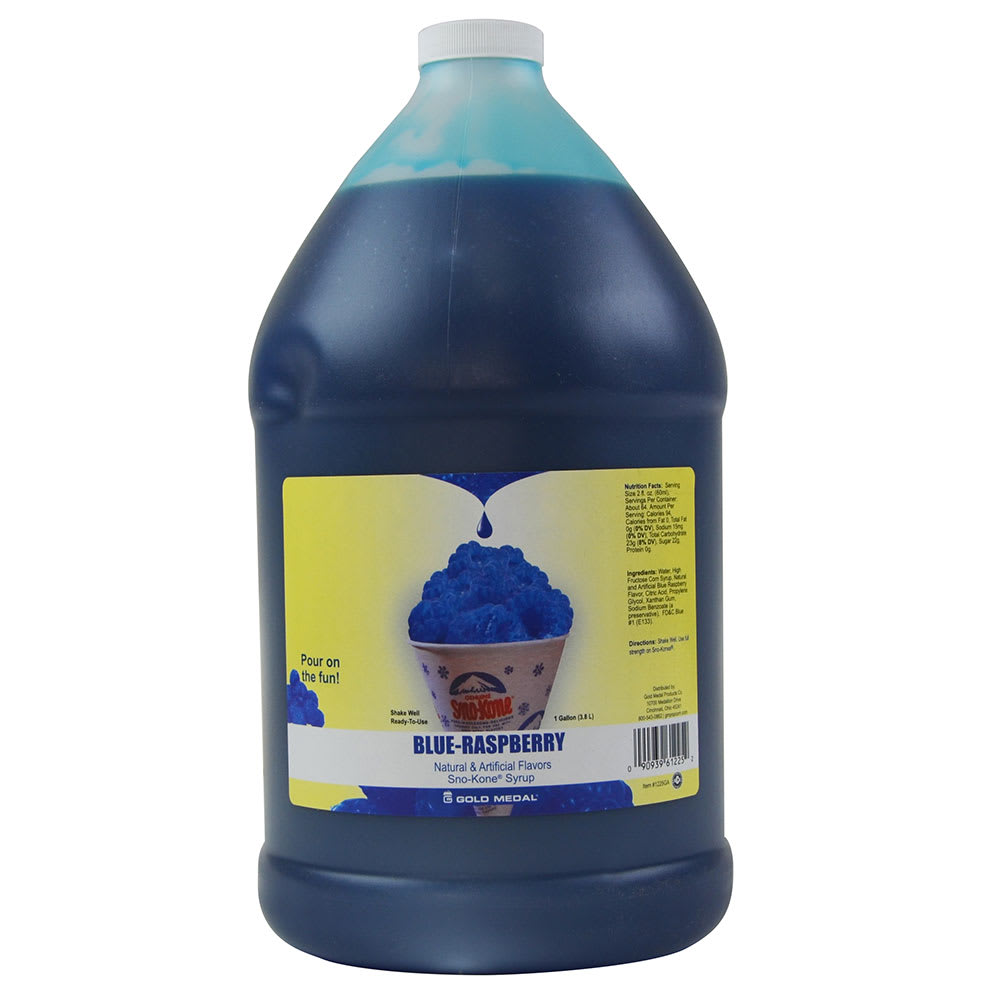 Gold Medal 1035GA 1 gal Blue Raspberry Snow Cone Syrup Concentrate