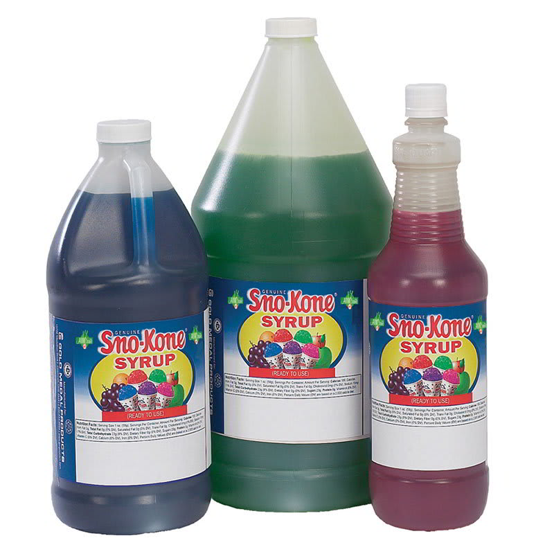 Gold Medal 1052 Grape Snow Cone Syrup, Ready-To-Use, (4) 1 gal Jugs