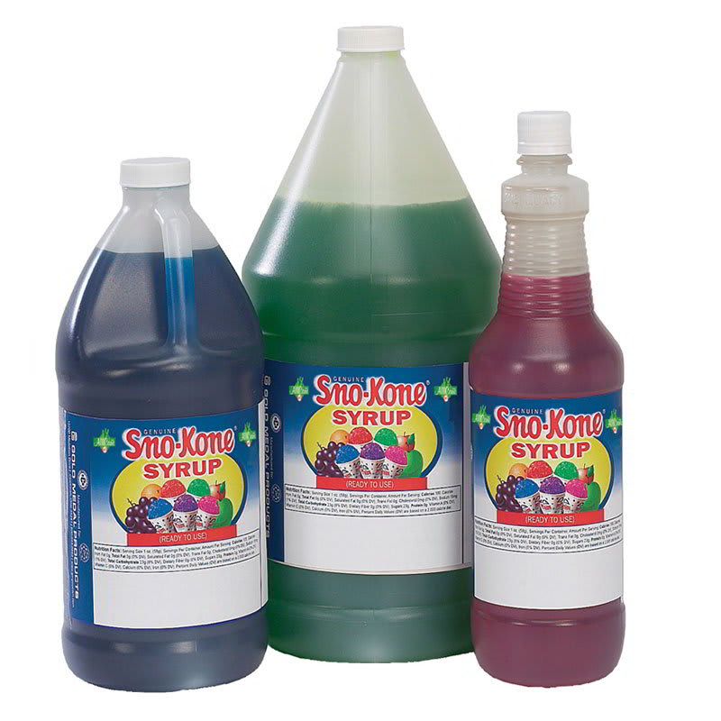 Gold Medal 1054 Lime Snow Cone Syrup, Ready-To-Use, (4) 1-gal Jugs