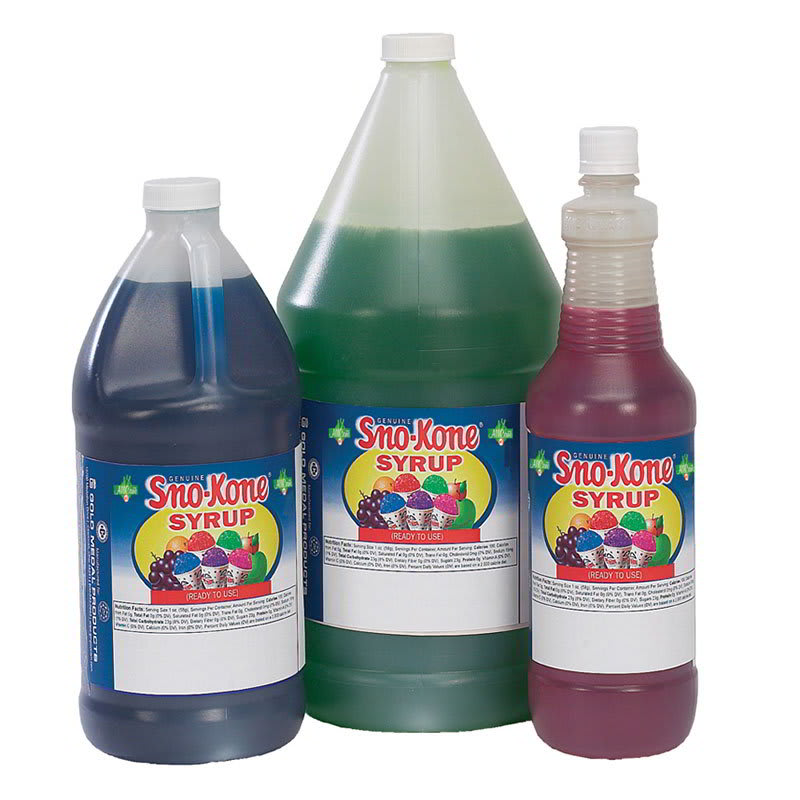 Gold Medal 1055 Ready-To-Use Flavor Syrup, Blue Raspberry, (4) 1-Gallons/Case