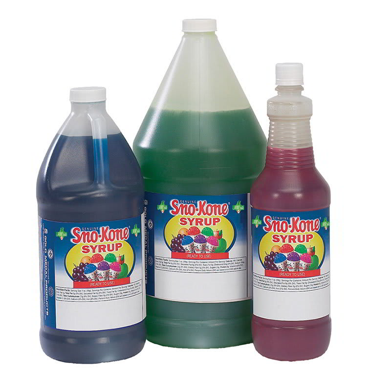 Gold Medal 1058 Root Beer Snow Cone Syrup, Ready-To-Use, (4) 1 gal Jugs