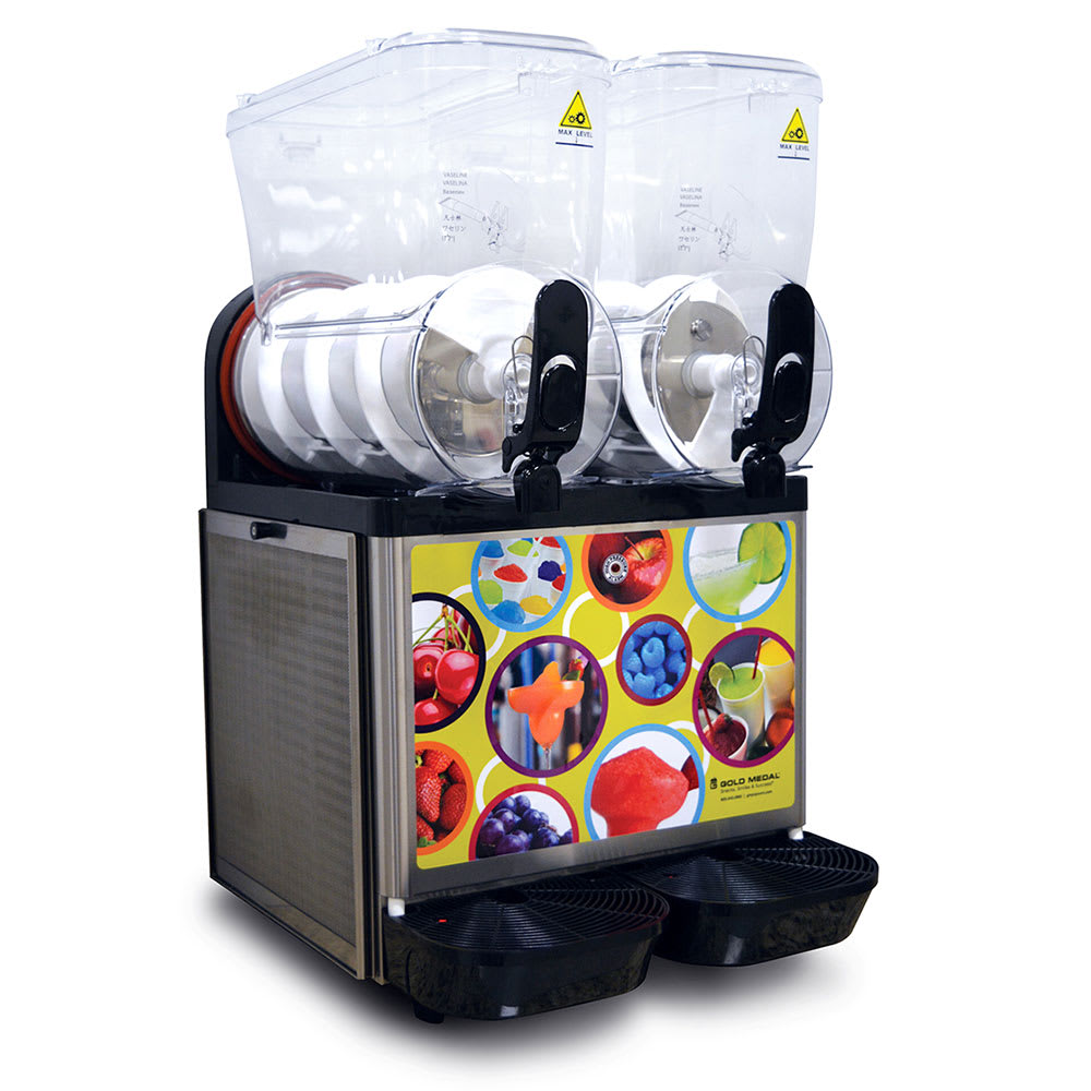 Gold Medal 1111 Frusheez Slush Machine w/ (2) 3.7 gal Hoppers - Stainless, 115v