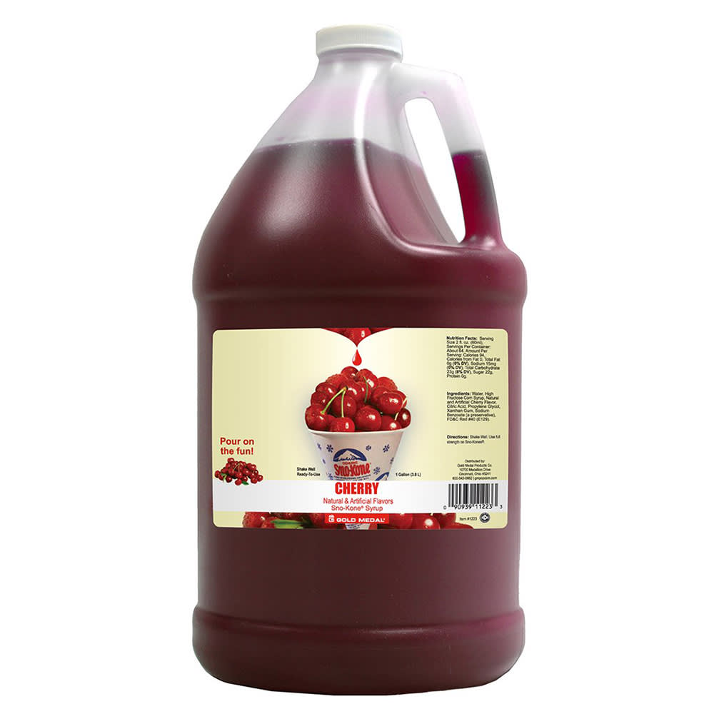 Gold Medal 1223 1-gal Sno Treat Flavor, Cherry