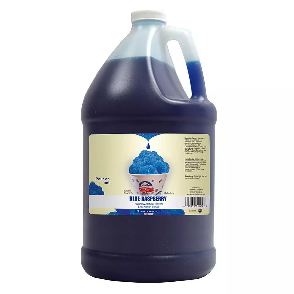 Gold Medal 1225GA 1 gal Blue Raspberry Snow Cone Syrup, Ready-To-Use