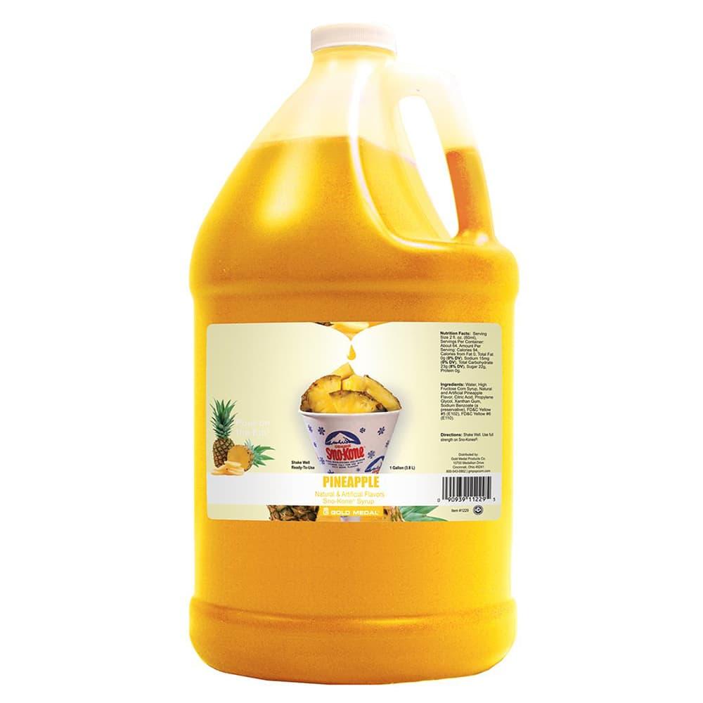 Gold Medal 1229 Pineapple Sno Treat Flavor, (4) 1 Gallon Per Case