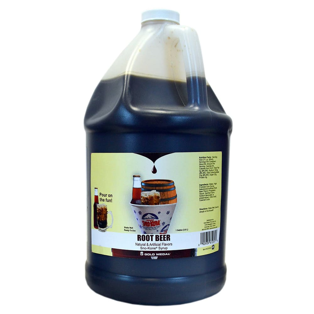Gold Medal 1231 Root Beer Sno Treat Flavor, (4) 1 Gallon Per Case