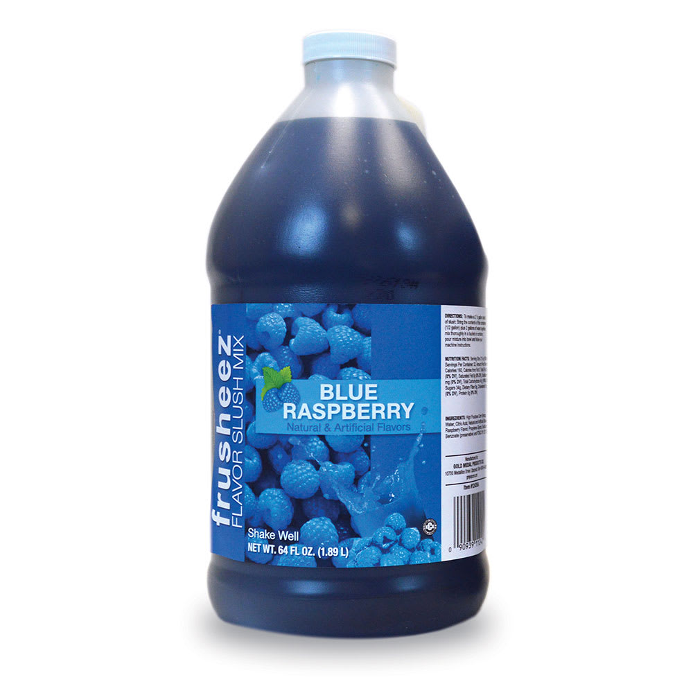 Gold Medal 1242 Blue Raspberry Frusheez® Mix, Concentrate, (6) 1/2 gal Jugs