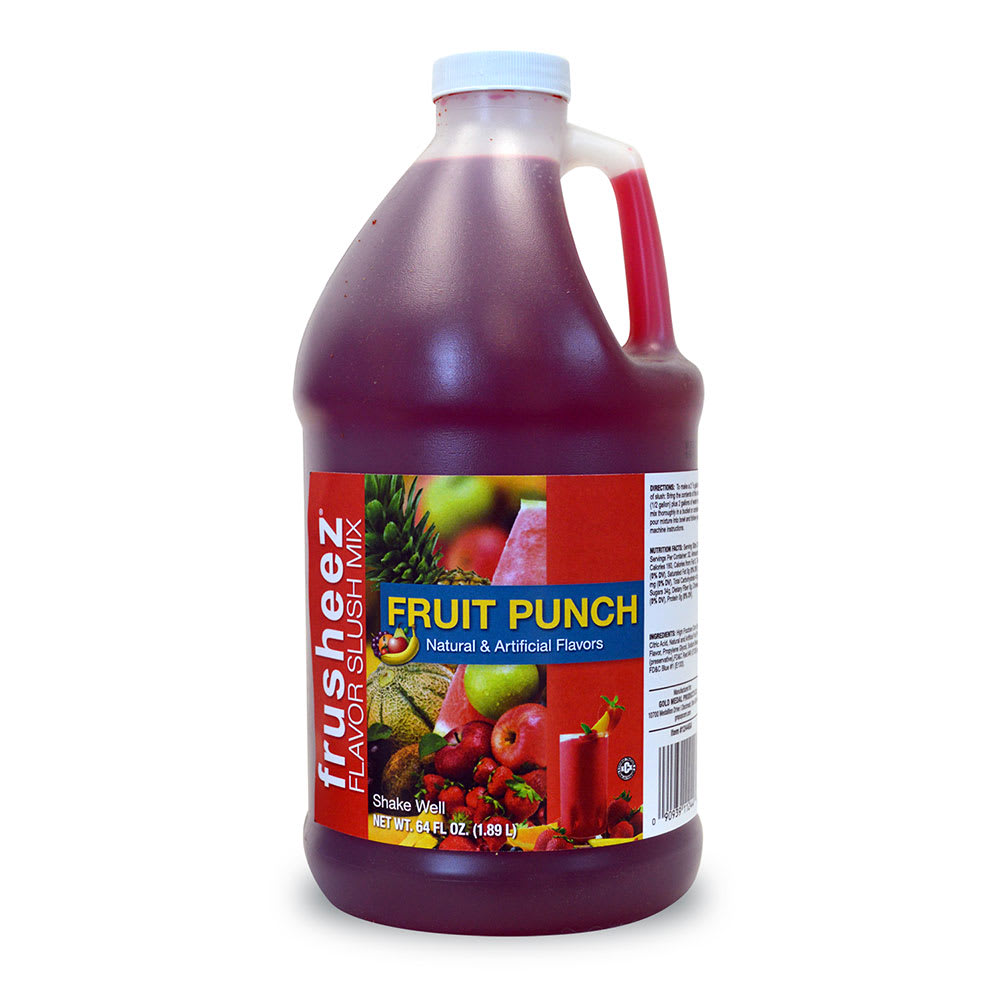 Gold Medal 1244 Fruit Punch Frusheez® Mix, Concentrate, (6) 1/2 gal Jugs