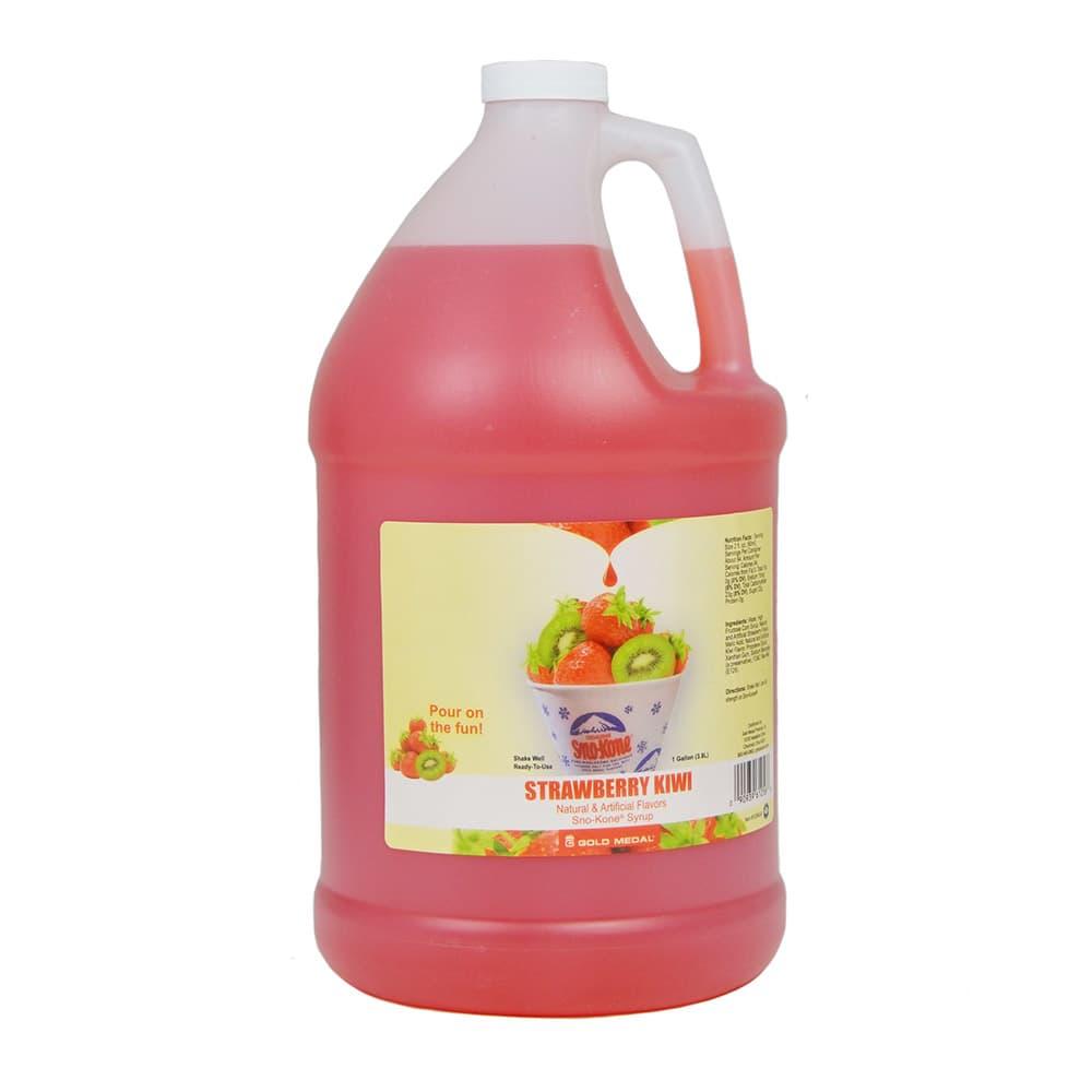 Gold Medal 1256 Strawberry Kiwi Sno Treat Flavor, (4) 1 Gallon Per Case