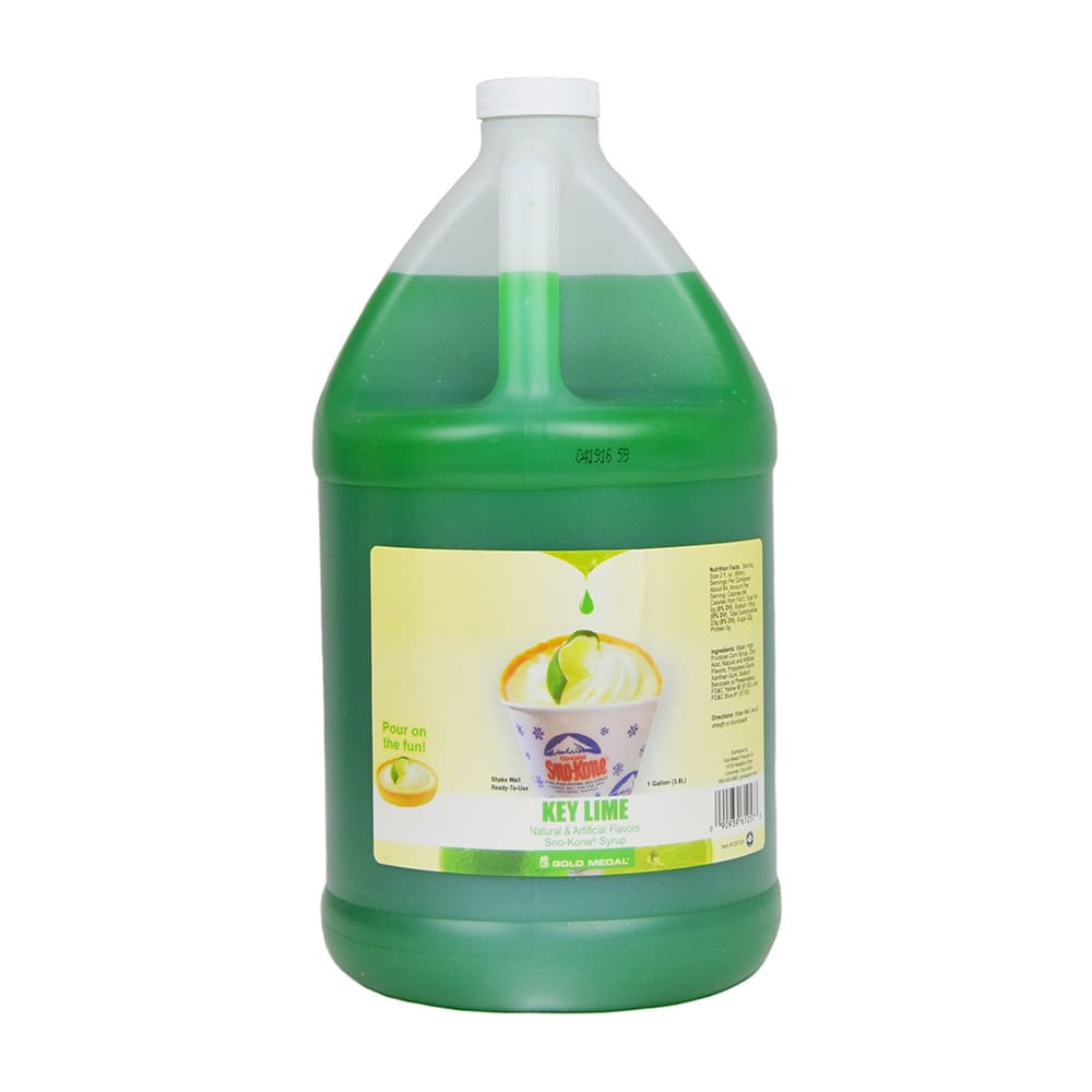 Gold Medal 1257 Key Lime Sno Treat Flavor, (4) 1 Gallon Per Case